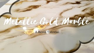 How to make METALLIC gold marble out of resin (a quick tutorial)
