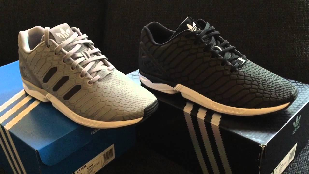 16ddadaaf Adidas ZX Flux Xenopeltis vergleich - Schwarz vs Grau - YouTube