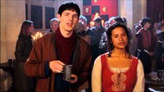 When Gwen used to like Merlin and Arthur used to like Morgana