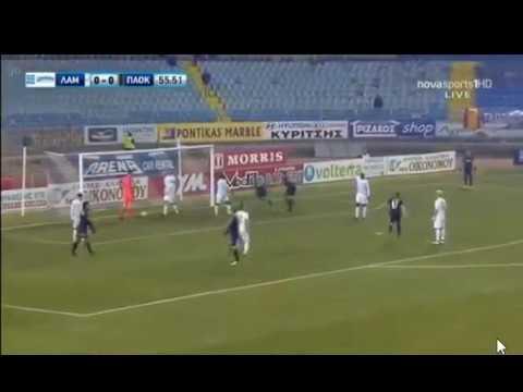 Λαμία-ΠΑΟΚ 0-1 Το γκολ του Πέλκα