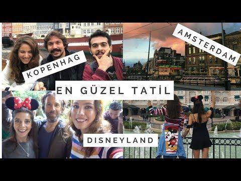 VLOG | KOPENHAG & AMSTERDAM & PARİS | En Yakın Arkadaşlarım, Tekrar Disneyland!!