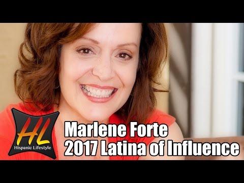 2017 Latina of Influence  actress Marlene Forte
