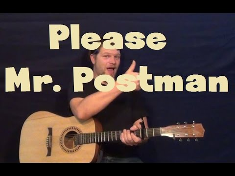 Please Mr Postman The Marvelettes Easy Guitar Lesson Strum Chord