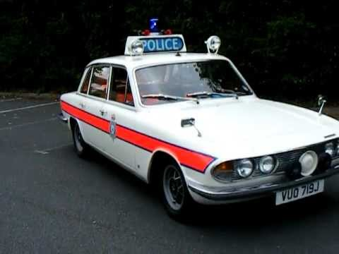 British Clic Triumph White 2000 2500 2 5pi 70 S Old Police Car The Sweeney