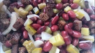 Салат деревенский // Салат без майонеза // Постный салат