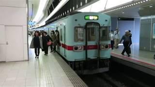 西鉄 5000形 方向幕変更 福岡(天神)駅 2017年5月6日