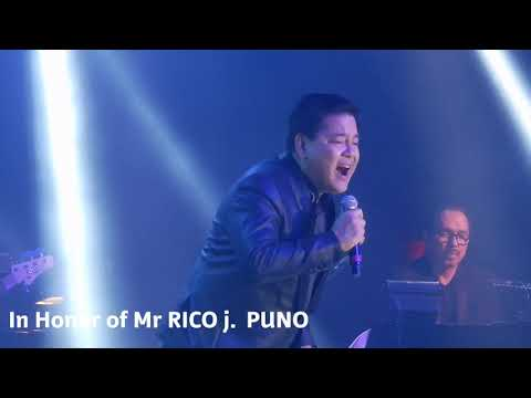 Martin Nievera sings in Honor of Mr Rico J Puno