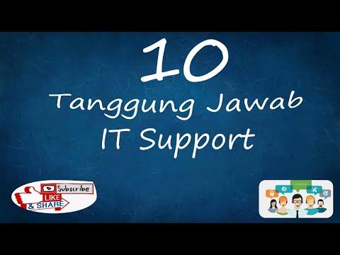 Yakin Mau Kerja Sebagai IT Support.. Ini 10 Tanggung Jawab IT Support