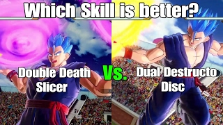 Dragon ball Xenoverse 2 Skill Test! Double Death Slicer Vs. Dual Destructo Disc!!