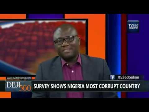 Nigeria ranks 1st in the world's corruption list.