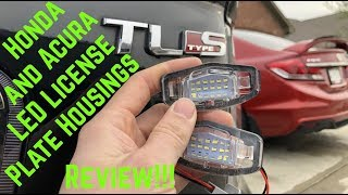 Review: Honda & Acura LED License Plate Housings