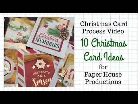 "10 Christmas Card Ideas – Paper House Productions ""Christmas Joy"""
