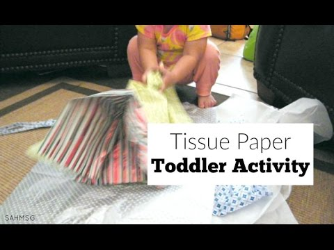 Tissue Paper Toddler Activity for Baby Play
