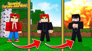 Minecraft Adventure - HOW TO BECOME FORTNITE JOHN WICK!!