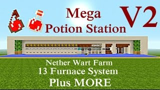Minecraft Tutorial : Mega Potion Station V2