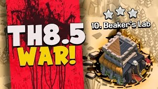 "Clash of Clans: ""6 STARS IN WAR!"" TOWNHALL 8.5 WAR... DEFENSE TOO!"