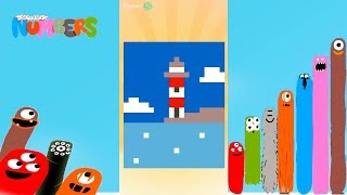Fun Landscape Part 1 Puzzles - DragonBox: Numbers (iPad, iPhone, Android). Fun game for kids.