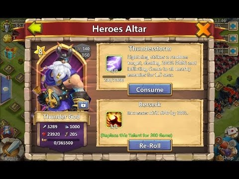 Castle Clash Thunder God At 8 Stars