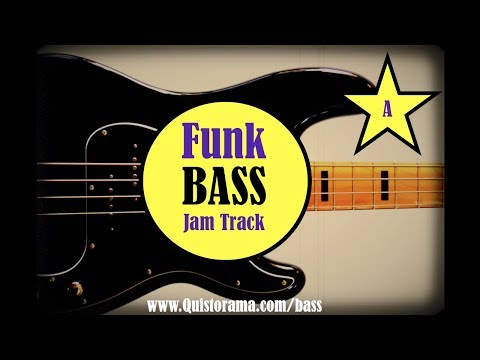 Funk Bass Jam Backing Track (A)