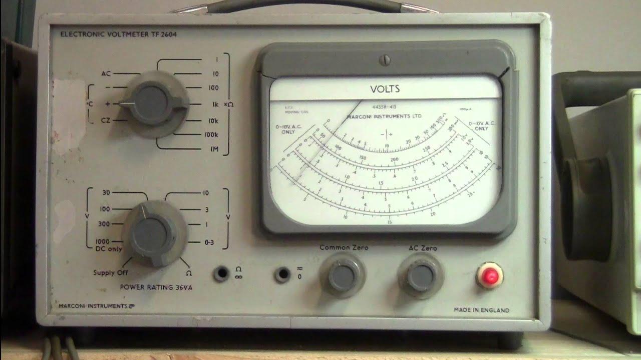 Episode 28 Uni T Ut50ii Ut50b Multimeter Review Marconi Tf2604 Electronic Voltmeters Vtvm