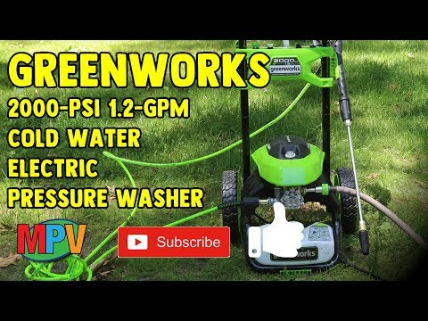 UNBOXING | Greenworks 2000-PSI 1.2-GPM Cold Water Electric Pressure Washer (2019.6.9) #1259