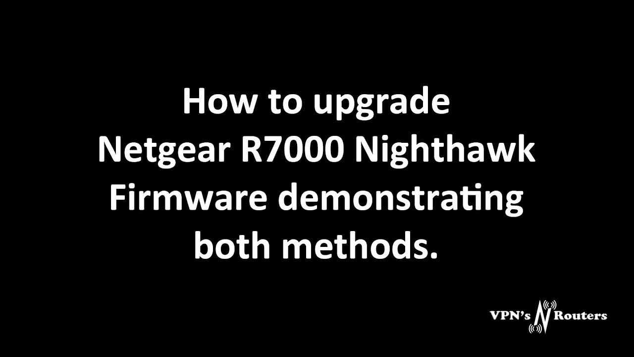 How to upgrade Netgear standard firmware
