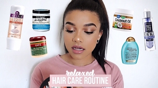 ♡ MY RELAXED HAIR CARE ROUTINE ♡