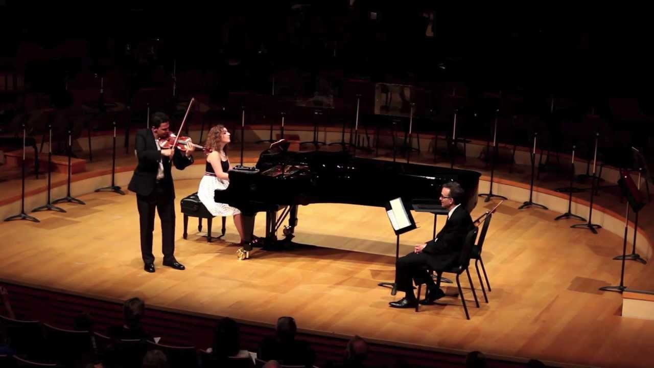 Cristian and Victoria Fatu plays Carmen Fantasy - Gil Shaham Master Class