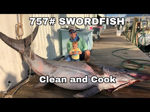 757# SWORDFISH - Clean And Cook - Traeger 780 Pro Grill