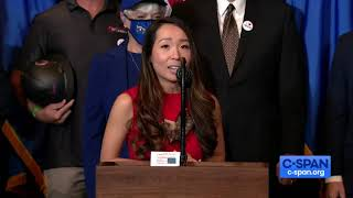 Lisa Song Sutton with President Trump in Las Vegas