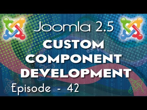 Joomla 2.5 Custom Component Development - Ep 42 How To Use Joomla JTable In Your Component Part1