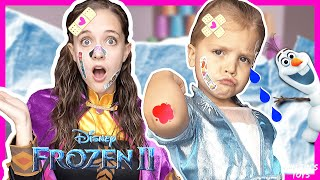 The Boo Boo Story From Elsa and Anna | Frozen 2 | NEW Frozen 2 Toys | Becko Tool Set