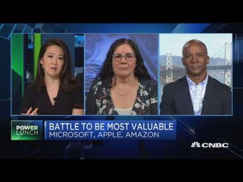 Apple, Amazon and Microsoft battle to be most valuable company