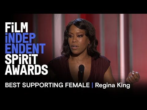 REGINA KING wins Best Supporting Female for IF BEALE STREET COULD TALK at the 2019 Spirit Awards