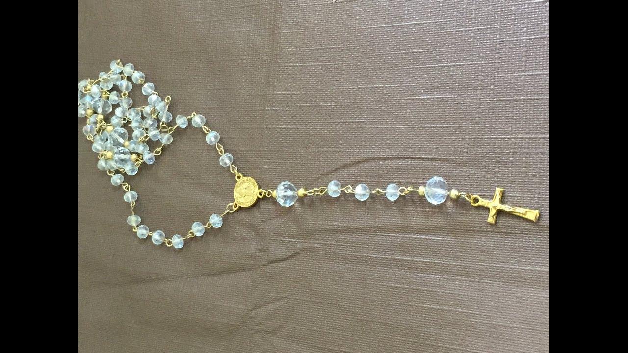 c3e82710a7c como hacer un rosario de pedreria - YouTube