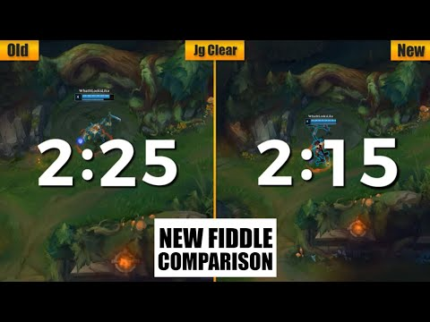 Fiddlesticks Remake Detail Comparison 2020 (Skill/JG Clear/Joke/Death/Skin)