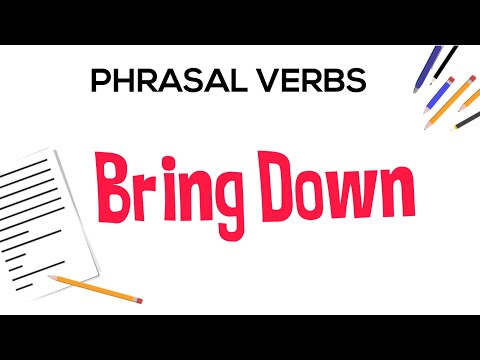 Phrasal Verbs in English: 5 Meanings of Bring Down