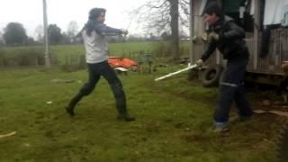 lucha de espadas ninya
