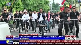 Jokowi Naik Sepeda Bareng Iriana di Jogja