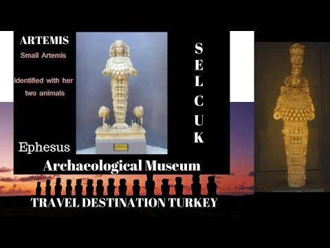 The Statues of Artemis at the Ephesus Archaeological Museum, Selcuk, Turkey