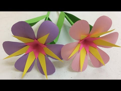 How to Make Beautiful Paper Flowers Step by Step at Home - DIY Paper Flowers