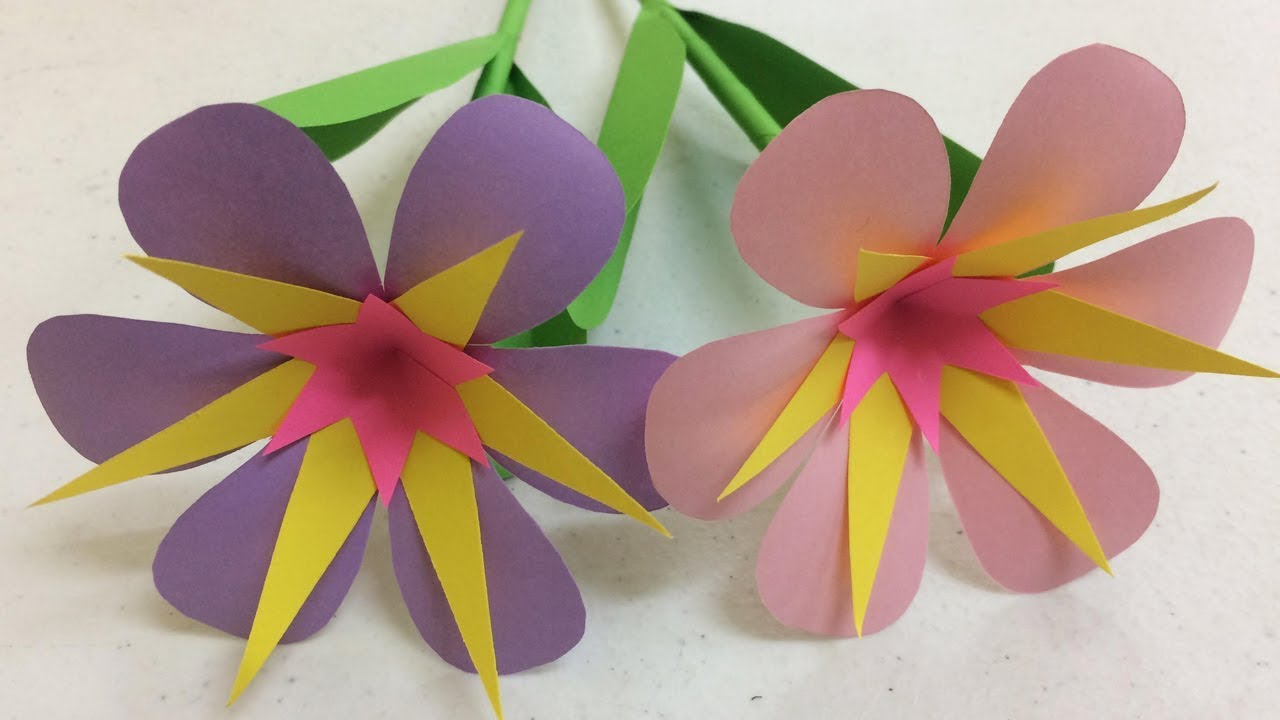 How To Make Beautiful Paper Flowers Step By Step At Home Diy Paper Flowers