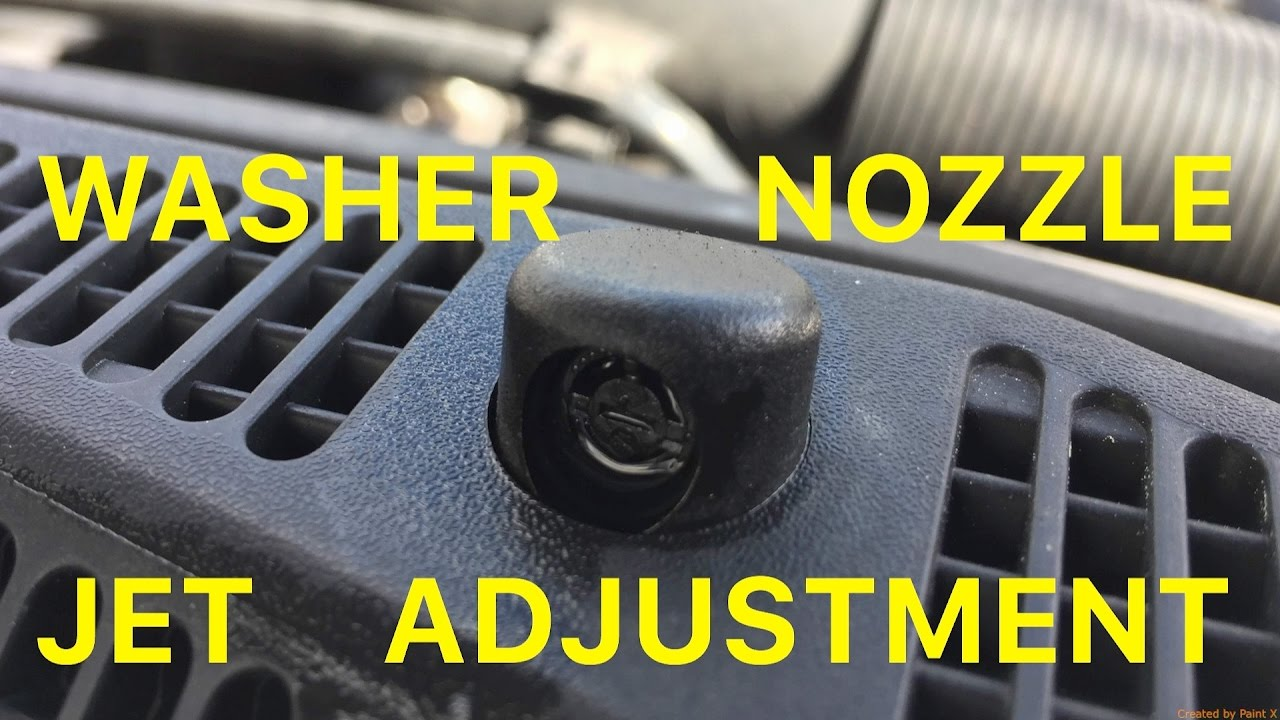 How To Refill Screen Wash And Adjust Washer Nozzle Jets Youtube