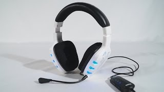 #1591 - Ozone Rage 7HX 7.1 White Gaming Headset Video Review