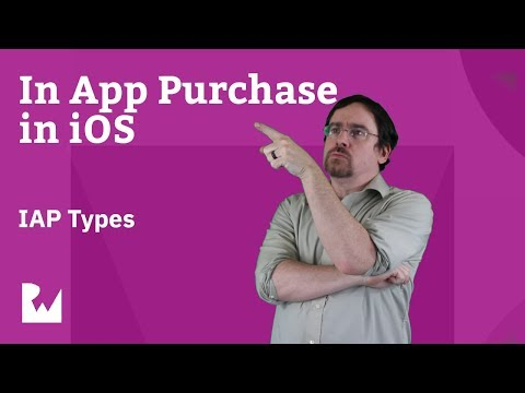 In App Purchase Types - In App Purchases in with iOS 12, Swift 4.2, and Xcode 10 thumbnail
