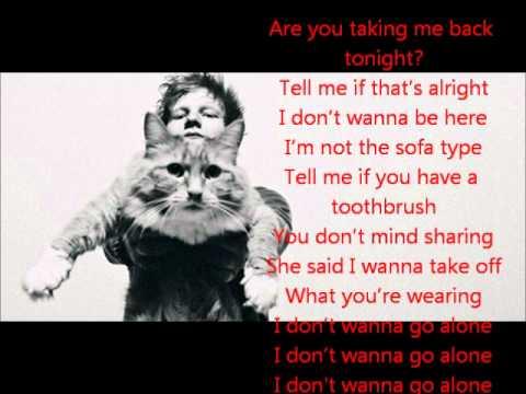 ed sheeran - one night lyrics