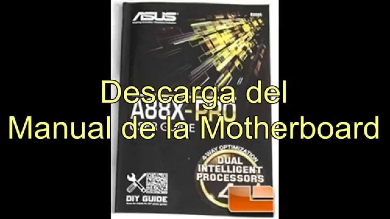 Descarga del Manual de la Motherboard