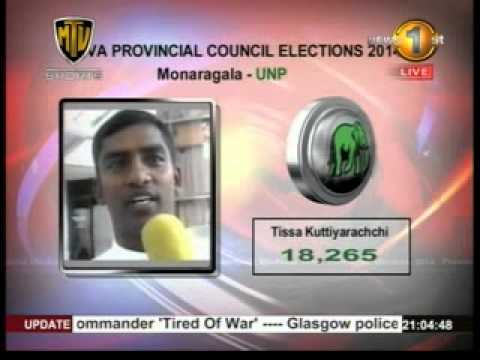 Newsfirst Preferential voting results for Badulla and Monaragala