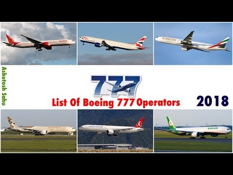 List Of Boeing 777 Operators (2018)
