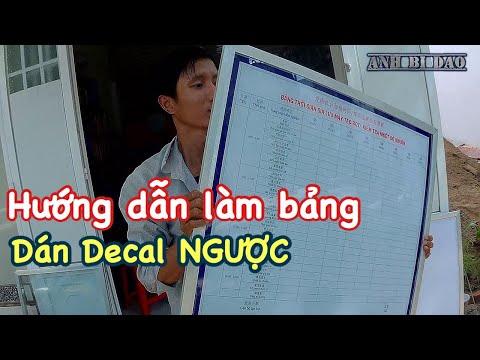 Hướng dẫn làm bảng nhôm kính dán decal ngược cực đẹp-Instruction making signs paste decal reverse. | decal chữ dán tường